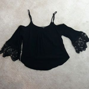 Ambiance Tops - Ambiance Black Cropped Top